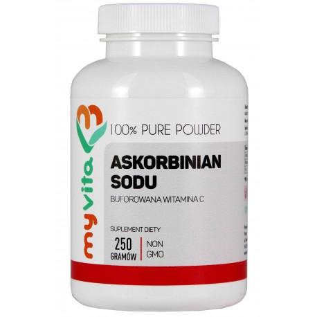 Askorbinian sodu (Buforowana Witamina C) MyVita proszek - sklep internetowy - 250 g