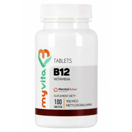 Witamina B12 MyVita - sklep internetowy - 100 tabletek