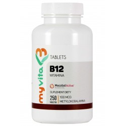 Witamina B12 MyVita - sklep internetowy - 250 tabletek