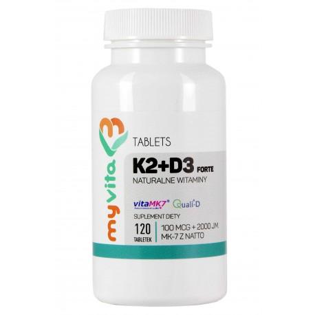 Witamina K2 MK-7 Myvita 120 tabletek - sklep internetowy