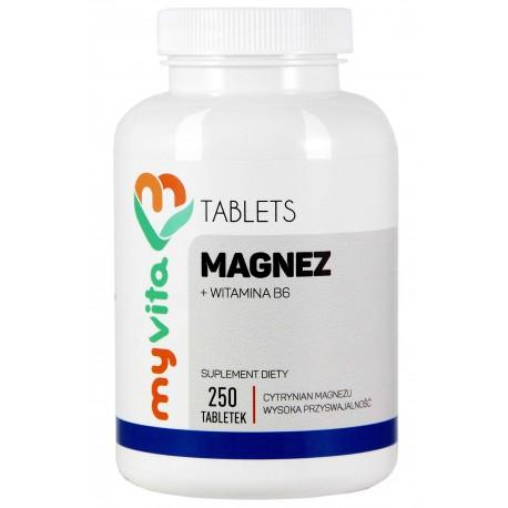 Magnez + witamina B6 MyVita - sklep internetowy - 250 tabletek