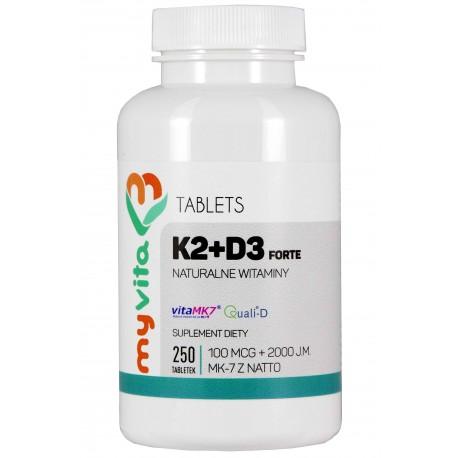 Witamina K2 MK-7 Myvita 250 tabletek - sklep internetowy