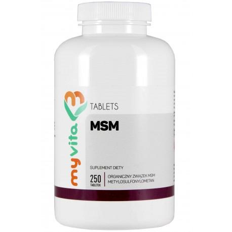 Tabletki MSM Myvita - 250 tabletek - sklep internetowy